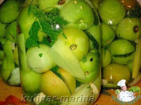 термо соленые на зиму зеленые помидоры с луком соответствии санитарным законодательством