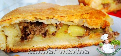Пирог с фарш и картошкой рецепт
