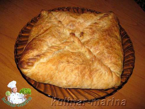 Слоеный пирог с капустой